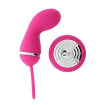 Розовый вибростимулятор с дистанционным управлением LUCY PINK, цвет розовый - Dibe