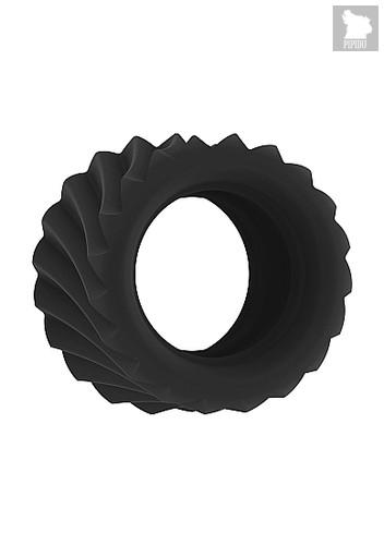 Эрекционное кольцо SONO No40 Black SH-SON040BLK, цвет черный - Shots Media