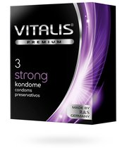 Презервативы VITALIS №3 сверх прочные, 3 шт. - VITALIS