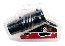 Насадка на член Toyfa Black&Red 901322-5, с кольцом, цвет черный - Toyfa