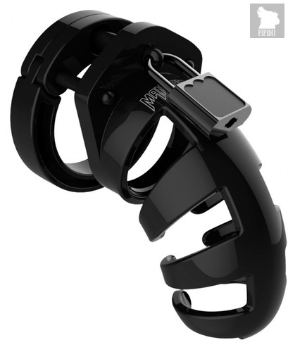 Черный мужской пояс верности Model 02 Chastity, цвет черный - Shots Media