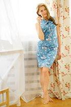 "Платье ""E5059"" голубой, размер S - Trikozza"