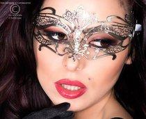 Фигурная серебристая маска Mysterious Mask, цвет серебряный - Chilirose
