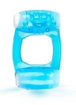 Голубое эрекционное кольцо c двумя вибропулями, цвет голубой - Brazzers