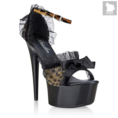 Туфли Leopard Lace, цвет коричневый/оранжевый, 38 - Hustler Shoes