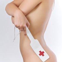 Кожаная хлопалка медсестры, цвет белый - Sitabella (СК-Визит)