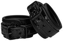 Черные поножи Luxury Ankle Cuffs, цвет черный - Shots Media