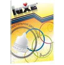 Презервативы Luxe Постельное двоеборье с ребрами и пупырышками - 3 шт. - LUXLITE