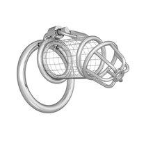 Серебристый мужской пояс верности на замочке, цвет серебряный - МиФ