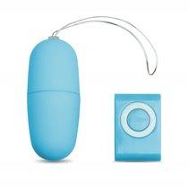 Виброяйцо с пультом управления голубое, цвет голубой - МиФ