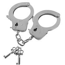 Наручники из листового металла с ключами Metal Handcuffs - Blush Novelties