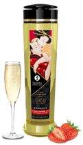 Массажное масло с ароматом клубники и шампанского Romance - 240 мл. - Shunga Erotic Art