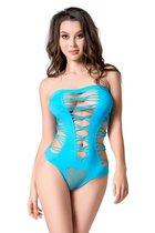 Пикантное боди-сетка Joli Mauna, цвет голубой, L-XL - Erolanta