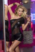 Клубное платье с открытым плечом, цвет черный, S-L - Candy girl