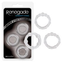 Набор эрекционных колец Renegade - Intensity Rings, цвет прозрачный - NS Novelties