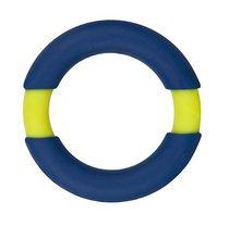 Синее эрекционное кольцо NEON STIMU RING 42MM BLUE/YELLOW, цвет синий - Dream toys
