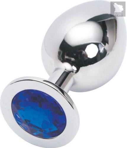 Анальная пробка Metal Broad Silver 3,4 с кристаллом, цвет серебряный - Luxurious Tail