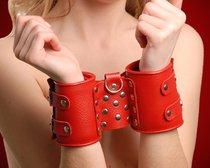 Наручники №1 СК-Визит фиксирующие, цвет красный - Sitabella