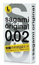 Презервативы Sagami Original L-size увеличенного размера - 3 шт. - Sagami