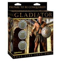 Кукла-мужчина Gladiator с виброфаллосом и языком, цвет телесный - Pipedream