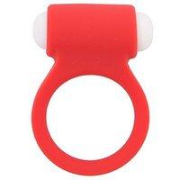 Красное эрекционное виброкольцо LIT-UP SILICONE STIMU RING 3 RED, цвет красный - Dream toys