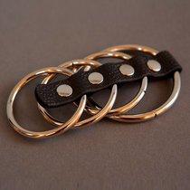 Сбруя на фаллос и мошонку из 4 колец, цвет серебряный - Подиум