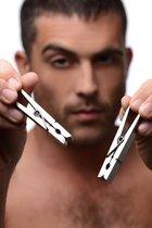 Зажимы на соски в виде бельевых прищепок Tom of Finland Bros Pin Stainless Steel Nipple C, цвет серебряный - XR Brands