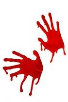 Наклейки на окна - кровавые руки, цвет красный - Fever