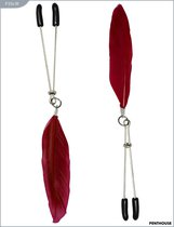 Зажимы для груди с красным пёрышком, 9 г, P3341R - Penthouse