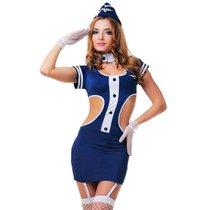 """Костюм """"Соблазнительная стюардесса"""", цвет синий, S-M - Le Frivole"""