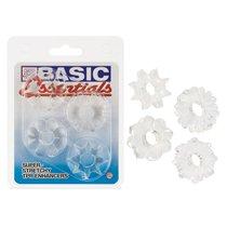 Набор эрекционных колец Basic Essentials - Super Stretchy TPR Enhancers, цвет прозрачный - California Exotic Novelties