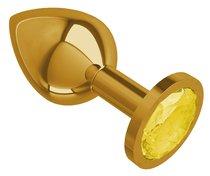 Золотистая средняя пробка с желтым кристаллом - 8,5 см, цвет желтый - МиФ