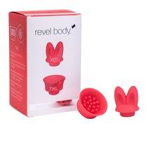Насадки QuietCore для пульсатора Revel Body - Kiti and Tikl, цвет красный - Revel Body