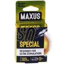 Презервативы с точками и рёбрами в пластиковом кейсе MAXUS Special - 3 шт. - maxus