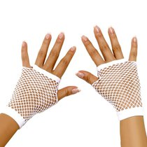 Митенки Wrist Length Fishnet Gloves, цвет белый, OS - Electric Lingerie