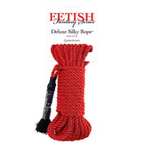 Веревка для бондажа Fetish Fantasy Series Deluxe Silky Rope, цвет красный - Pipedream