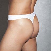 Белые мужские стринги с молнией Doreanse, цвет белый, L - Doreanse