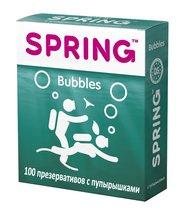 Презервативы SPRING BUBBLES с пупырышками - 100 шт. - Spring