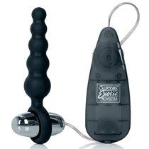 Анальная виброцепочка Booty Call - Booty Shaker, цвет черный - California Exotic Novelties