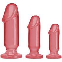 Набор розовых анальных фаллоимитаторов Crystal Jellies Anal Starter Kit - Doc Johnson