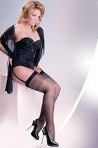 Чулки под пояс Katia Plus Size 20 den, цвет черный, размер 5-6 - Gabriella