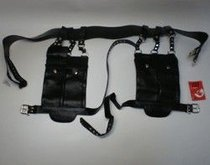 Черные набедренные карманы-ранцы, цвет черный - Sitabella