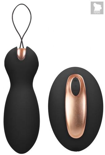 Черные вагинальные шарики Purity с пультом ДУ, цвет черный - Shots Media