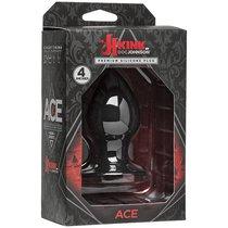 Чёрная анальная пробка Kink Ace Silicone Plug 4 - 10,16 см, цвет черный - Doc Johnson