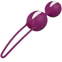 Вагинальные шарики Smarts Duo - Purple, цвет фиолетовый - Fun factory