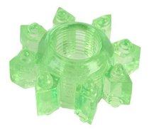 Зеленое эрекционное кольцо-звезда, цвет зеленый - Toyfa