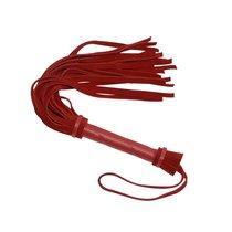 Красная мини-плеть из натуральной велюровой кожи - 40 см., цвет красный - Sitabella (СК-Визит)