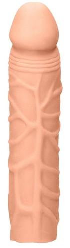 Телесная увеличивающая насадка Penis Extender - 17,5 см., цвет телесный - Shots Media
