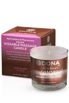 Вкусовая массажная свеча DONA Kissable Massage Candle Chocolate Mousse 135 г - DONA by JO
