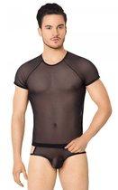 Эффектный полупрозрачный мужской комплект из сетки, цвет черный, M-L - SoftLine Collection (SLC)